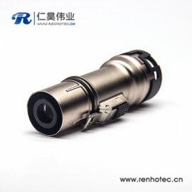 新能源金属带屏蔽插头高压互锁连接器单芯8mm电流200A直式