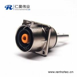 金属电流200A高压插座直式单芯8mm互锁连接器