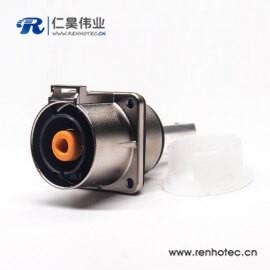 高压电插座电流200A金属单芯8mm直式互锁连接器