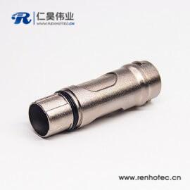 直式金属插头高压互锁金属连接器单芯8mm带屏蔽电流200A