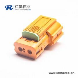 高压直式插头互锁HVIL2芯塑料绝缘体150A连接器
