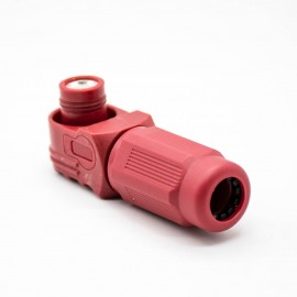 单芯大电流红色塑料连接器IP67弯式插头12mm单芯350A接线