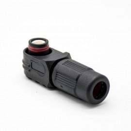 防水黑色IP67连接器单芯120A弯式插头6mm塑料接线