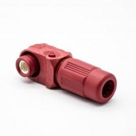 单芯防水红色14mm接线连接器400A弯式插头塑料IP67
