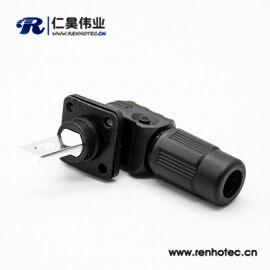 储能高压连接器黑色350A塑料防水IP67公母插座插头对接单芯12mm铜牌连接