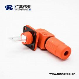 电池储能防水IP67连接器橙色塑料400A单芯14mm公母插座插头直弯对接高压
