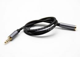 耳机4极公对母直式音频线黑色0.5米-3米