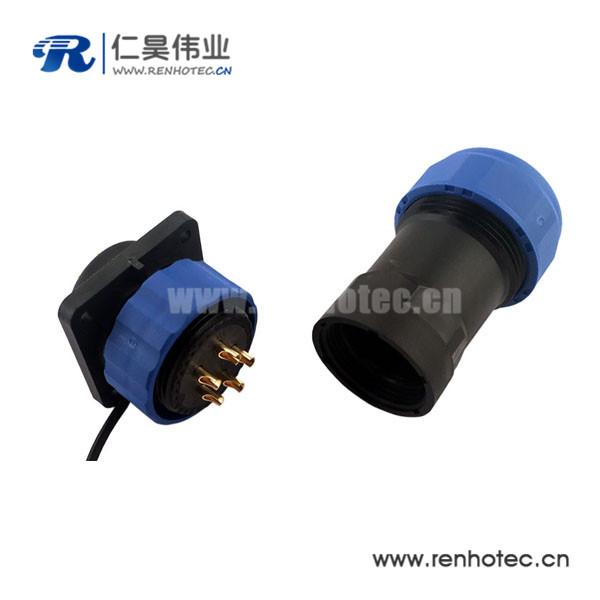 航空插头IP68 SP系列防水12芯圆形连接器