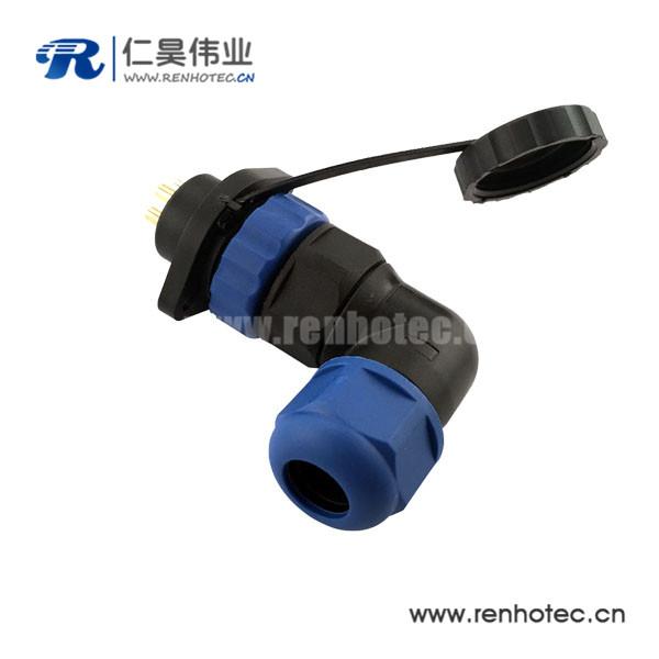 防水连接器SP21 21MM 14芯2孔法兰插座