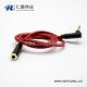 3.35mm插头镀金公头对母3极弯对直红色音频延长线0.5米-3米