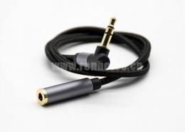 3.5mm公对母3极黑色音频线0.5米-3米