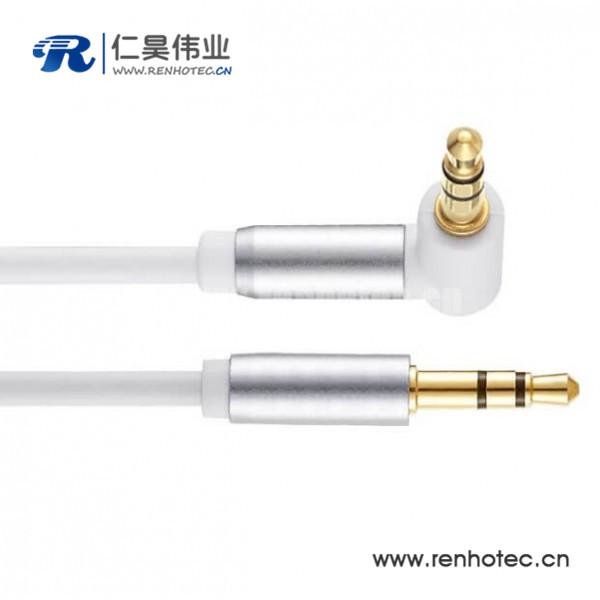 3.5mm车载音频线弯头3.5MM公对公音频线30CM