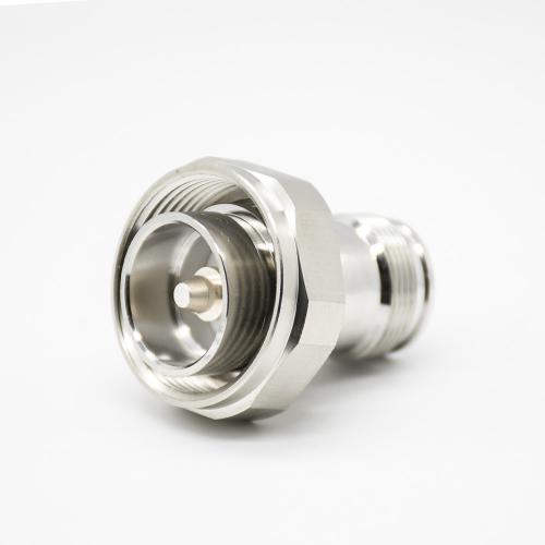 DIN7-16公头转4.3/10母头镀镍射频同轴连接器直式转接头