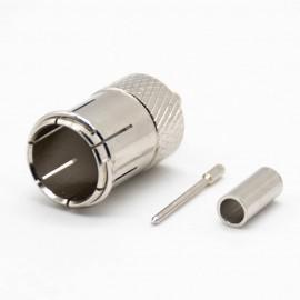 PAL接口直式公针接线压接镀镍连接器