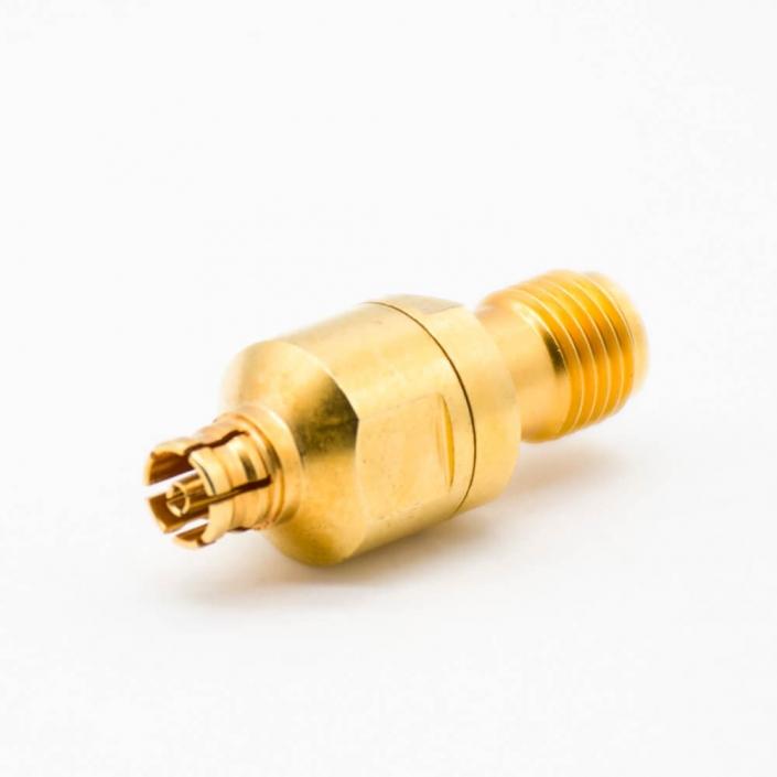 SMA射频转接头SMA转PSMP直式射频同轴连接器KK镀金母转母