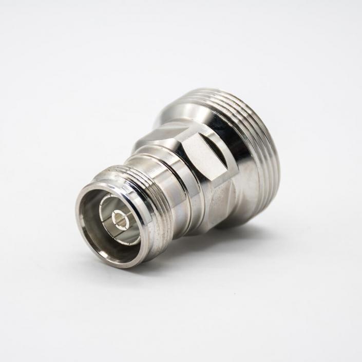 双母头DIN7/16转4.3-10转接头直式RF同轴连接器镀镍