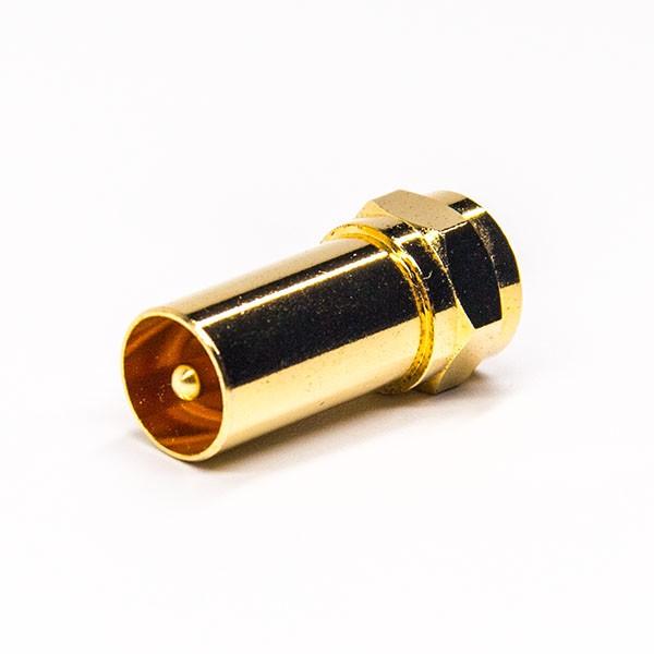 射频f转接头直式公转公镀金180度