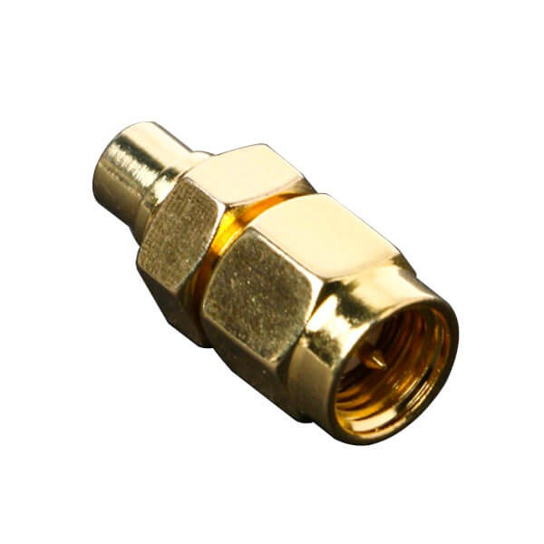 SMA公连接器直式转MCX母头直式连接器外层镀金
