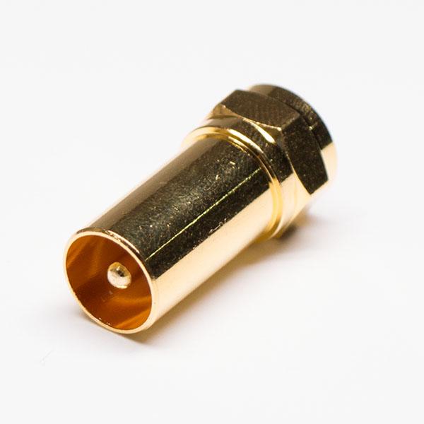 F转接头公对公直式同轴连接器镀金