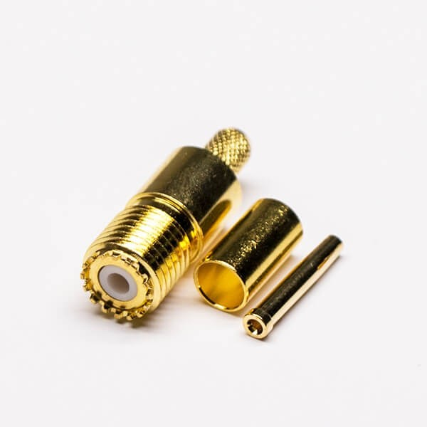 Mini UHF连接器插座RF连接器压接接线接RG58