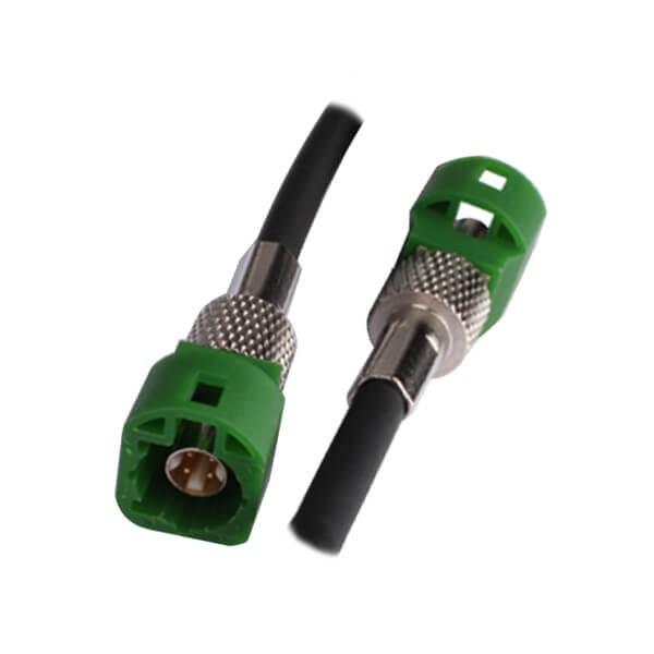 LVDS线束厂商特供4芯HSD绿色连接器公转公线束1M