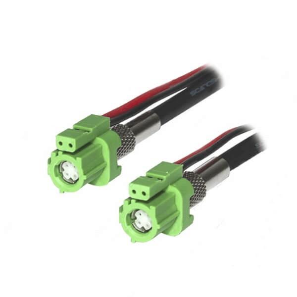 深圳HSD连接器厂家特供6芯E型母转母LVDS延长线1米