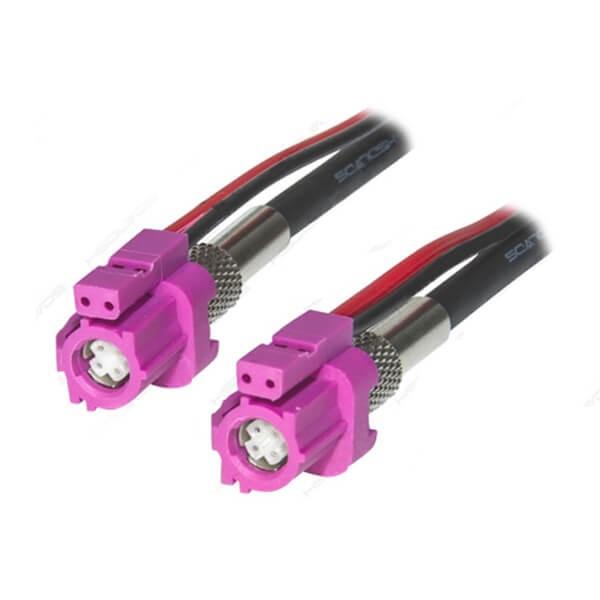 汽车LVDS接口HSD连接器生产厂家特供6芯H型母转母线1米
