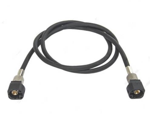 国内HSD4p连接器厂家供应4芯黑色HSD公转公线束1米