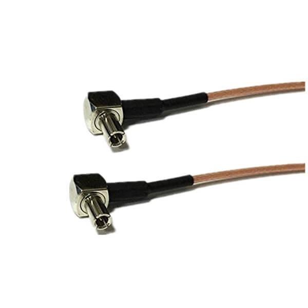 生产Rf线厂家专供TS9转TS9弯公头接RG178组装线束15CM
