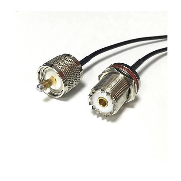 RF信号线RG174接UHF母头SO239转UHF公头PL259