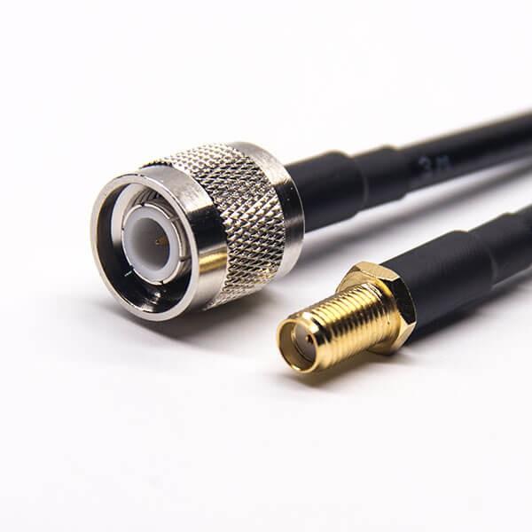 TNC公头直式转SMA母头直式RF线材接RG223 RG58