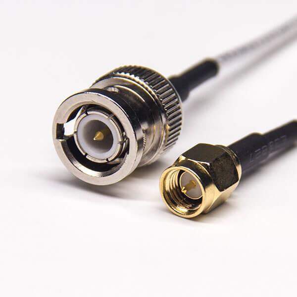 直插式SMA公头转BNC直式公头同轴线缆接RG316