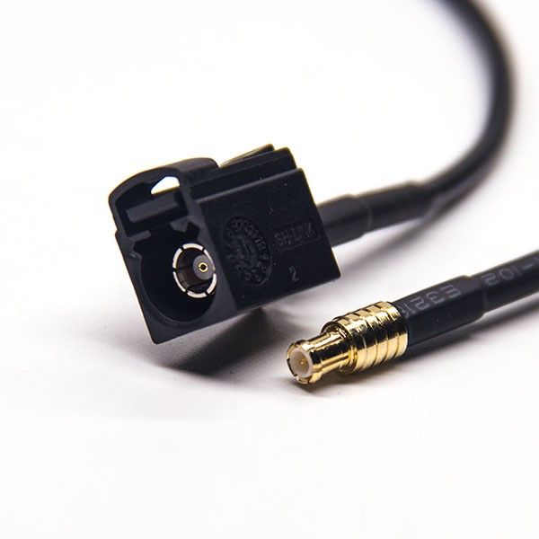 Fakra连接器A型母头转MCX公头线材连接器 RG174 线长1米