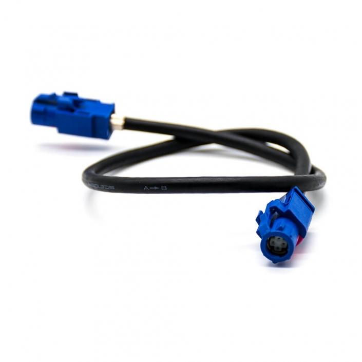 Fakra 连接器4芯母头转母头直式电缆线1米