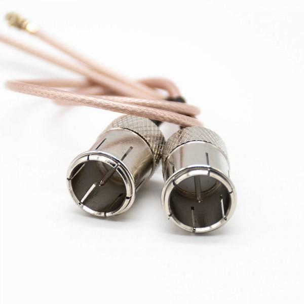 同轴线缆f头公头直式接RG178线1米