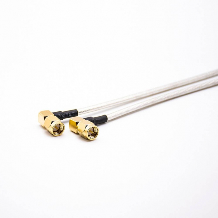 SMA射频线RG405同轴线两头弯式公头SMA连接器