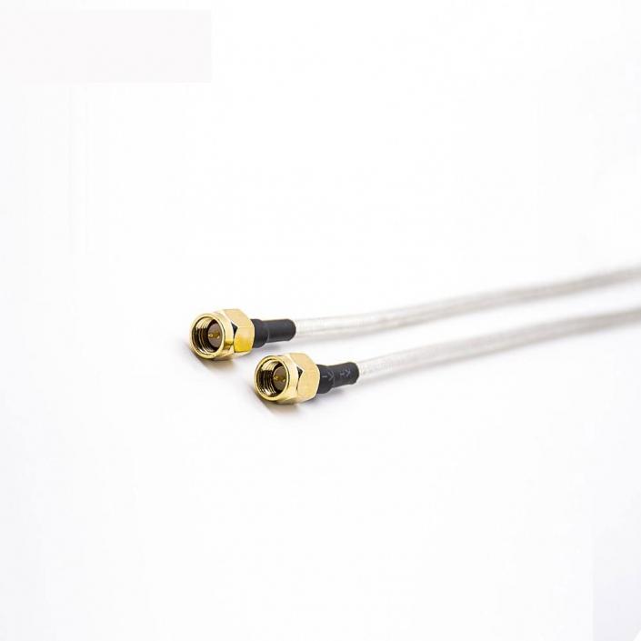 同轴线SMA直式公头两头直式焊接RG405线同轴线缆