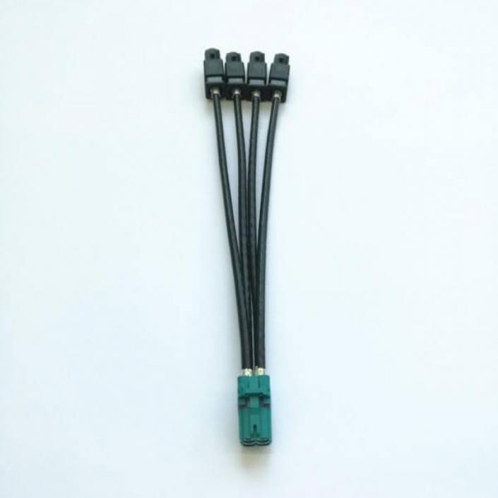 Fakra连接线电动公母4针同轴连接器汽车电缆线长20CM
