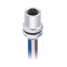 M5 4芯焊线连接器防水圆形传感器M5 4芯后锁接线20CM 26AWG线