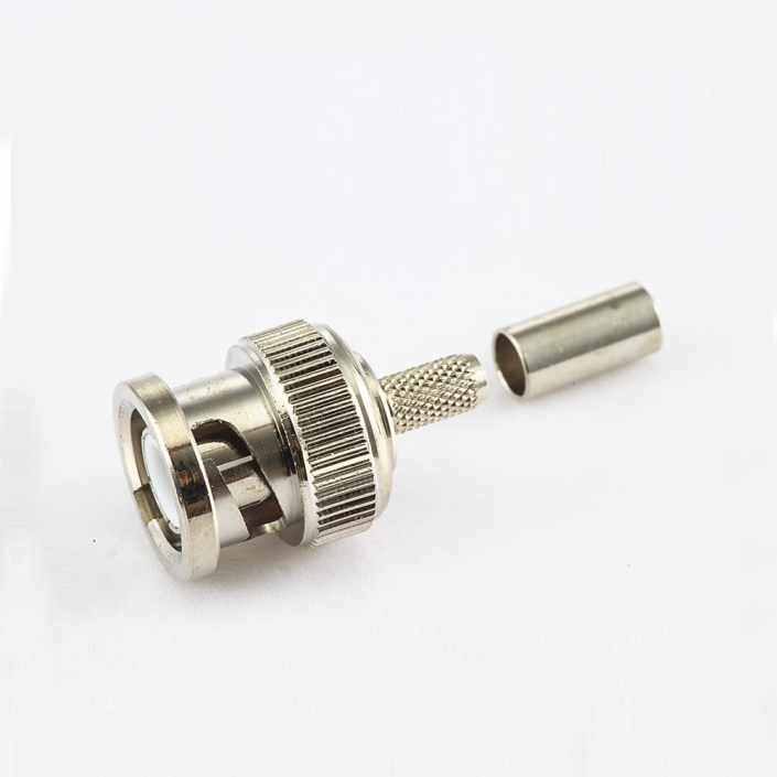 BNC公头直式压接RG174/RG316电缆