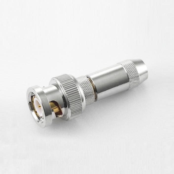 BNC 75欧姆公头直式压接RG59/SYV75-4电缆