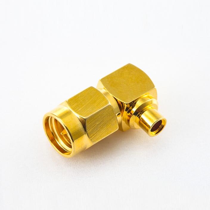 SMA连接器接线半柔/半刚性-2 公头弯式焊接类型