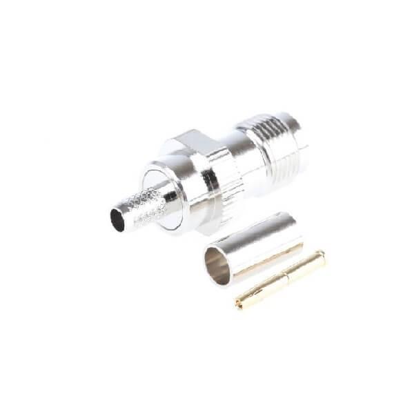 TNC连接器压接端接直径50Ω电缆安装母头RG58 / U