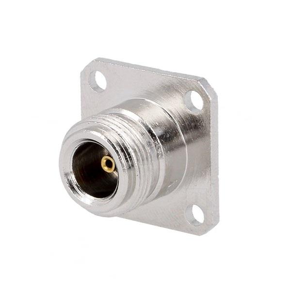 N型母头直式焊接面板安装连接器
