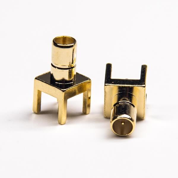 SMB PCB连接器公头插孔式板端接口同轴连接器