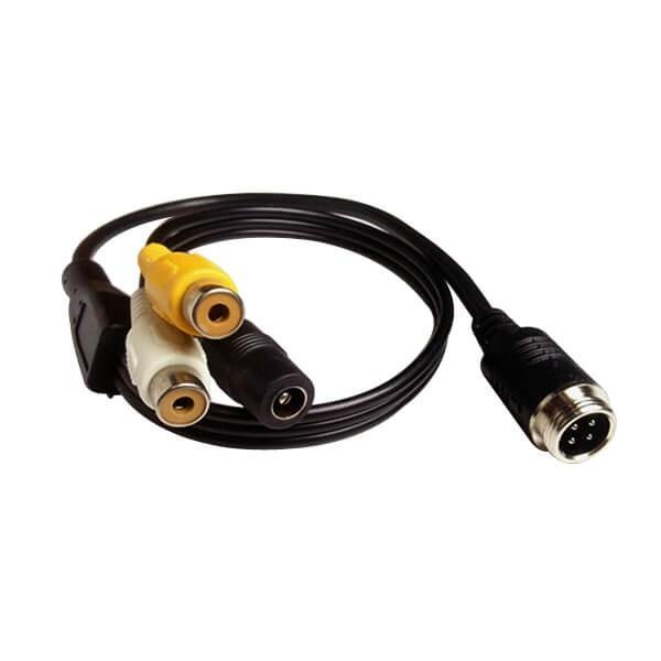 公头航空线4芯转RCA DC母头分流器电缆延长线30CM