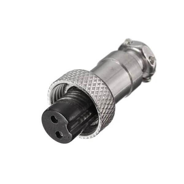 航空GX12连接器母头2芯插头