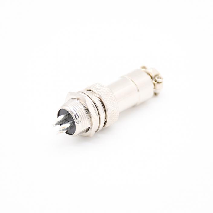 4芯航空插头插座连接器公母直式防水连接器接线