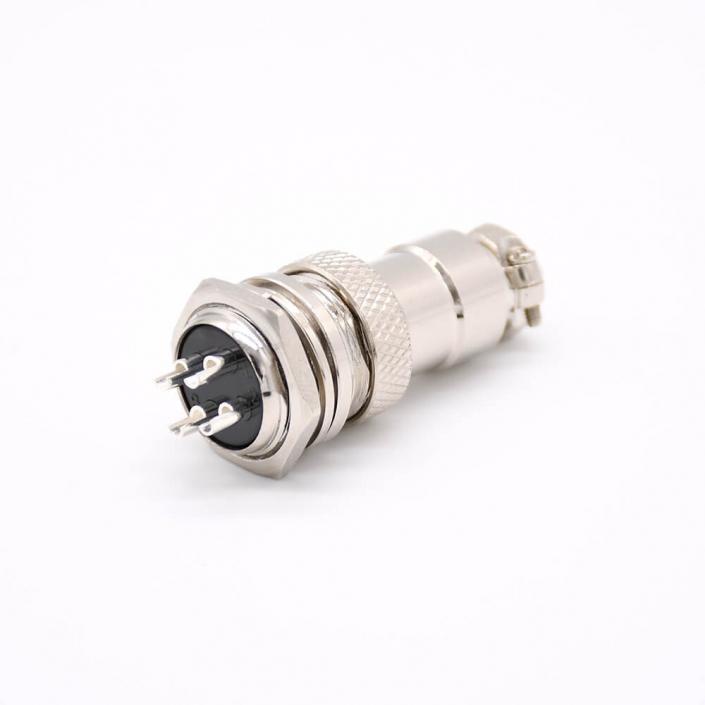 航空插座 航空插头GX16-4芯公母直式连接器