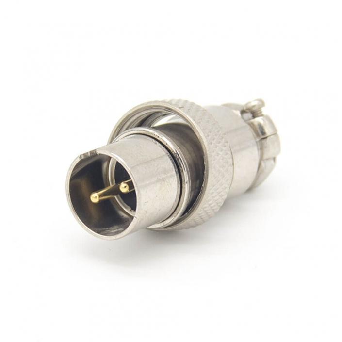 航空插头GX16 2芯反装直式公头圆形接线连接器